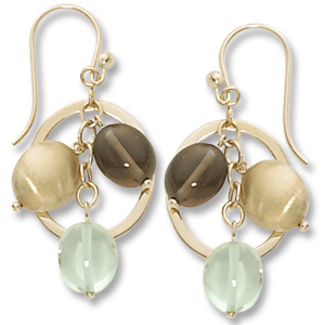 Gemstone Earrings by Carla Corporation